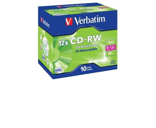 VERBATIM CD-RW(10-Pack)/Jewel/12x/700MB