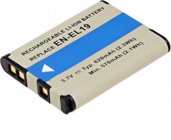 Baterie T6 power Nikon EN-EL19, 620mAh, 2.3Wh, černá