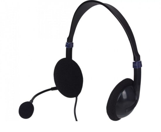 Sandberg PC sluchátka SAVER USB headset s mikrofonem, černá