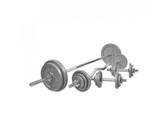 Gorilla Sports Činkový nakladací set 108 kg - liatinový 30/31 mm