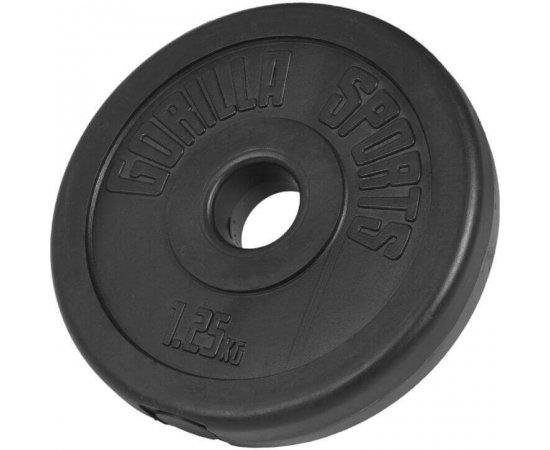 Gorilla Sports poplastovaný cementový kotúč 1.25kg- 25mm