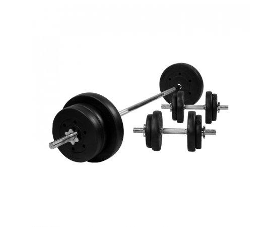 Gorilla Sports Činkový nakladací set 70 kg - plastový 30/31 mm