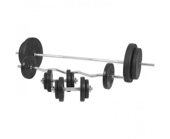 Gorilla Sports Činkový nakladací set 100 kg - plastový 30/31 mm