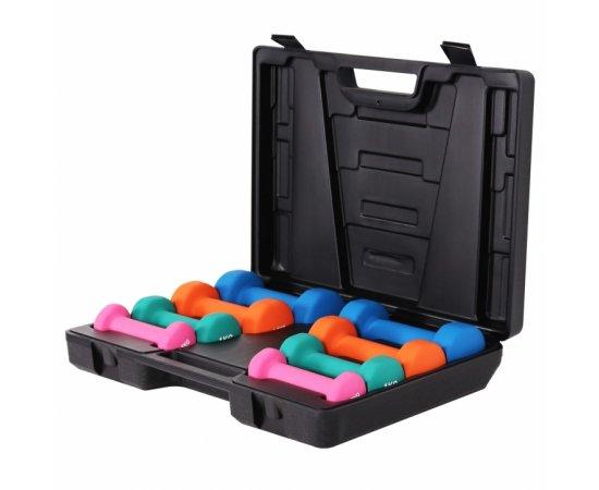 Gorilla Sports 10kg činkový set s kufríkom