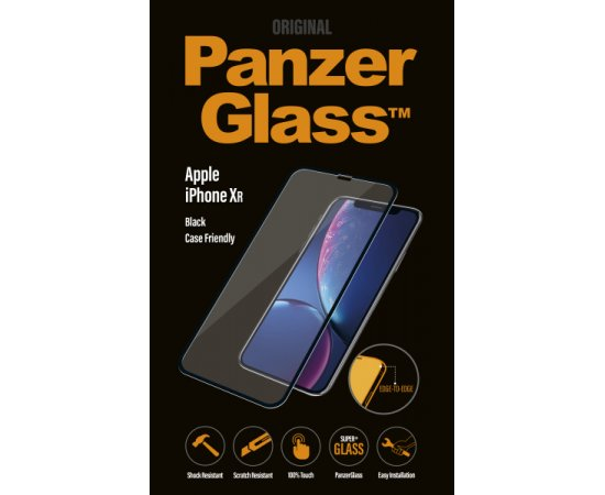 PanzerGlass - Tvrdené sklo Case Friendly pre iPhone XR, čierna