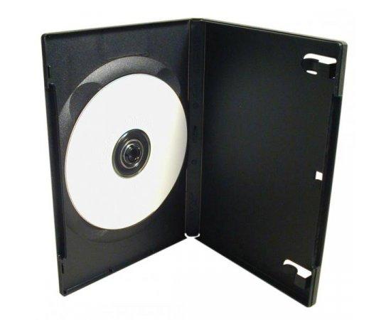 Box na 1 ks DVD, čierny, slim, 9mm, 100-pack, cena za 1 ks