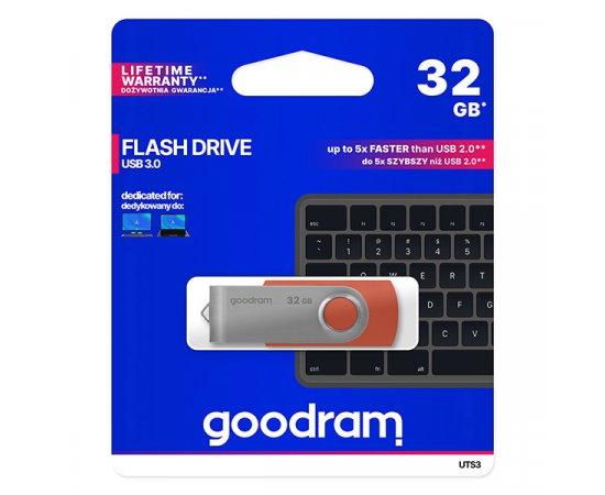 Goodram USB flash disk, 3.0, 32GB, UTS3, červený, UTS3-0320R0R11