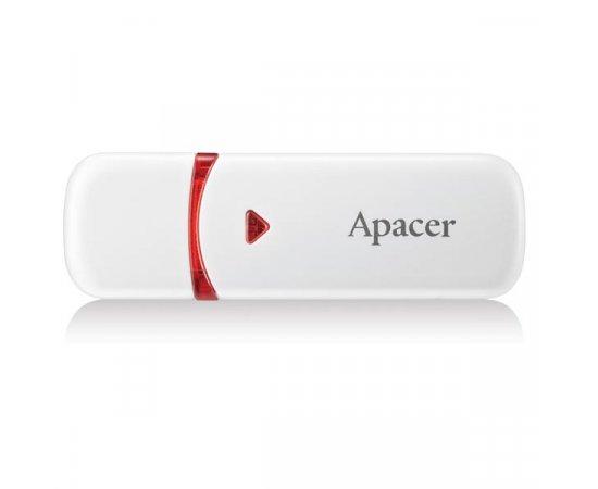 Apacer USB flash disk, 2.0, 64GB, AH333, biely, červený, AP64GAH333W-1, s krytkou