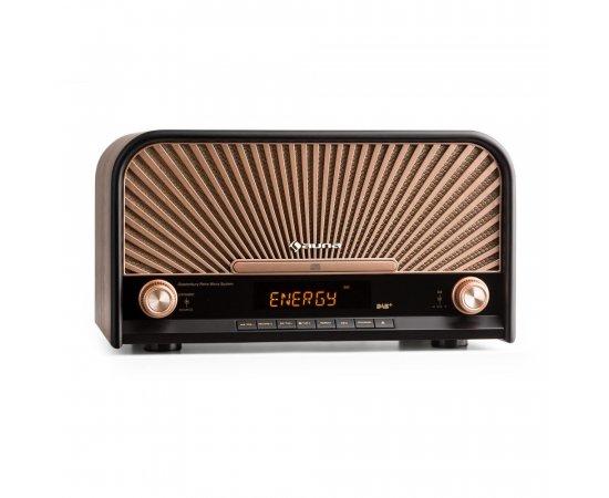 AUNA GLASTONBURY RETRO STEREO ZARIADENIE DAB+ FM BLUETOOTH CD MP3 PREHRAVAC, 10031824