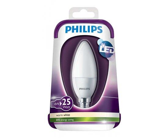 PHILIPS LED 4W (25W) E14 WW 230V B35 FR ND/4