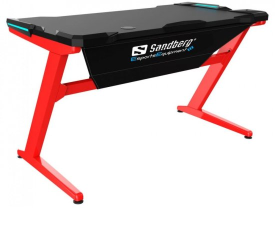 SANDBERG FIGHTER GAMING DESK CERVENOCIERNY