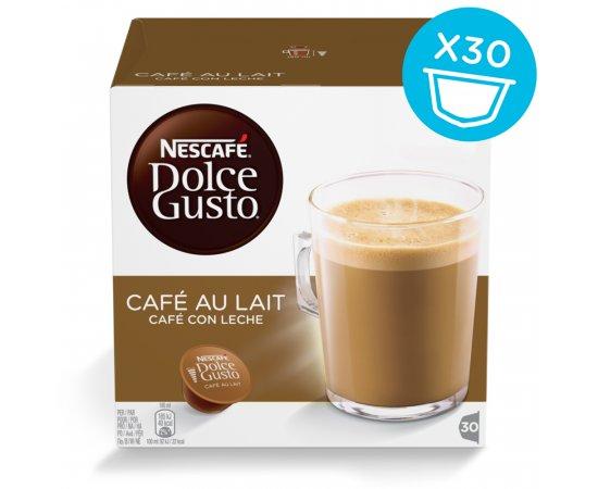 NESCAFE DOLCE GUSTO CAFE AU LAIT MAGNUM PACK 30KS