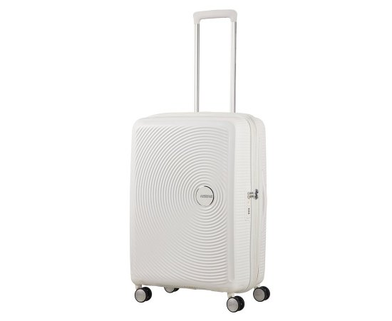 SAMSONITE AMERICAN TOURISTER SPINNER 32G05002 SOUNDBOX -67/24 TSA EXP JUST LUGGAGE, PURE WHITE