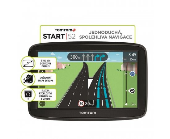 TOMTOM START 52 EUROPE, LIFETIME MAPY 1AA5.002.03