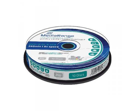 MEDIARANGE DVD+R 8,5GB 8x  DoubleLayer PRINTABLE Cake 10