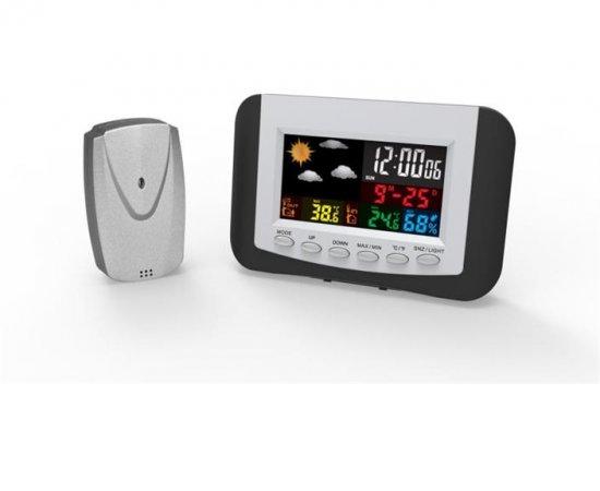 OMEGA digitální barevná meteostanice LCD vnitřní/venkovní bezdrátová