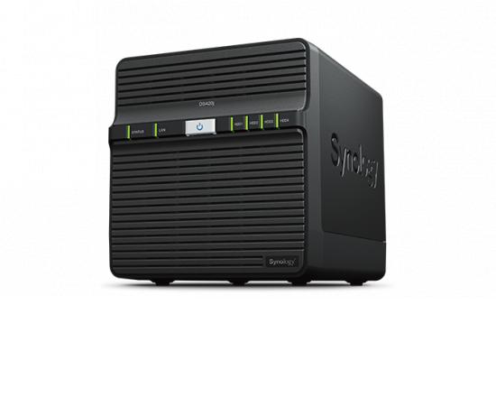 Synology DiskStation DS420j, 4x SATA server, 1x 1Gb LAN + internetová televízia SledovanieTV na dva mesiace v hodnote 11,98 €
