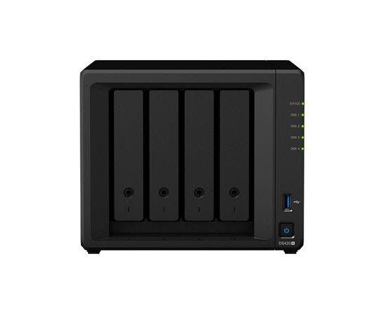Synology DS420+ +EW201 Realtek RTD1296 1,4GHz, 1GBRAM, 4xSATA, 2xUSB3.0, 1xGbE, rozšířená záruka 5 let + internetová televízia SledovanieTV na dva mesiace v hodnote 11,98 €