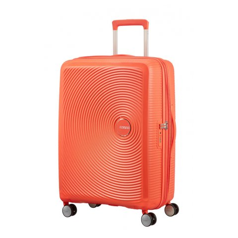 SAMSONITE AMERICAN TOURISTER SPINNER 32G66002 SOUNDBOX -67/24 TSA EXP JUST LUGGAGE, SPICY PEACH