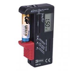 EMOS Univerzálny tester batérií AA, AAA, C, D, 9V