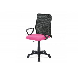 kancelárska stolička, látka MESH rúžová / čierna, plyn.piest + internetová televízia SledovanieTV na dva mesiace v hodnote 11,98 €