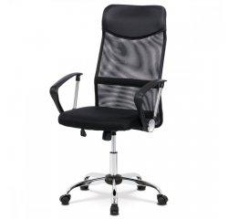 AUTRONIC KA-E305 BK Kancelárska stolička s podhlavníkom z ekokože, hojdací mechanizmus, kovový križ