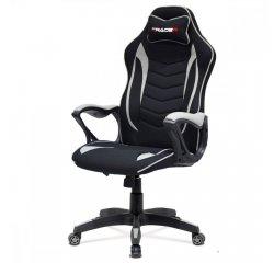 Kancelárska stolička, čierno-sivá látka, plastový kríž + internetová televízia SledovanieTV na dva mesiace v hodnote 11,98 €