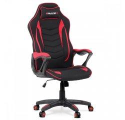 Kancelárska stolička, čierno-červená látka, plastový kríž + internetová televízia SledovanieTV na dva mesiace v hodnote 11,98 €