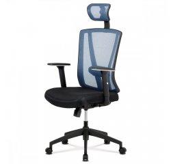 kancelárska stolička, čierna/modrá sieťovina, plast kríž, synchronní mechanismus + internetová televízia SledovanieTV na dva mesiace v hodnote 11,98 €