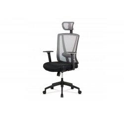 AUTRONIC KA-H110 GREY kancelárska stolička, čierna/šedá sieťovina, plast kríž, synchronní mechanismus