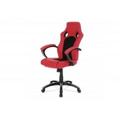 kancelárske kreslo, koženka červená, látka čierna + internetová televízia SledovanieTV na dva mesiace v hodnote 11,98 €