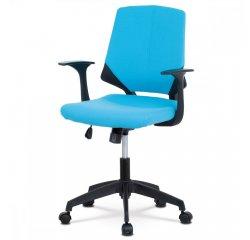 kencelárska stolička, modrá látka, čierne plastové područky + internetová televízia SledovanieTV na dva mesiace v hodnote 11,98 €