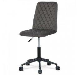 AUTRONIC KA-T901 GREY4 Kancelárská stolička detská, poťah sivá zamatová látka, výškovo nastaviteľná, kríž čierny plastový