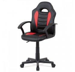 kancelárska stolička, červená-čierna ekokoža, výšk. nast., kríž plast čierny + internetová televízia SledovanieTV na dva mesiace v hodnote 11,98 €
