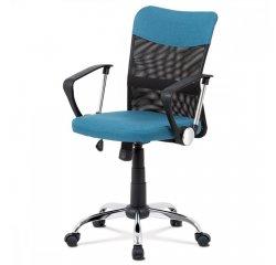 kancelárska stolička, modrá látka, čierna MESH, hojdací mech, kríž chróm + internetová televízia SledovanieTV na dva mesiace v hodnote 11,98 €
