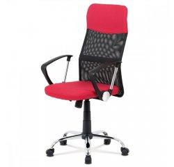 kancelárska stolička, červená látka, čierna MESH, hojdací mech, kríž kovový + internetová televízia SledovanieTV na dva mesiace v hodnote 11,98 €
