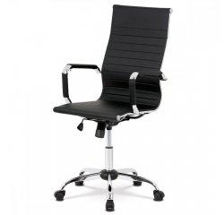 kancelárska stolička,čierna ekokoža, hojdací mech, kríž chróm + internetová televízia SledovanieTV na dva mesiace v hodnote 11,98 €