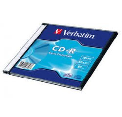 VERBATIM CD-R DL 700MB, 52 Extra Prot. Slim Box