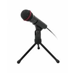 Stolní mikrofon C-TECH MIC-01, 3,5'' stereo jack, 2.5m