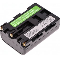 Baterie T6 power Sony NP-FM50, NP-FM51, NP-FM30, NP-QM50, NP-QM51, 1700mAh, šedá
