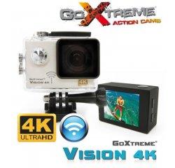 Odolná digitální kamera EasyPix GoXtreme Vision, 4K Ultra HD Action, Wi-Fi, bílá, vodotěsná