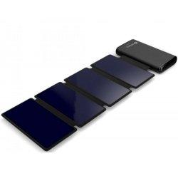 Sandberg Solar 4-Panel Powerbank 25000 mAh, solární nabíječka, černá