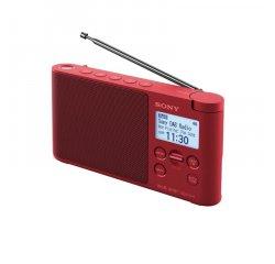 Sony XDR-S41D, přenosné digitální rádio DAB/DAB+ s LCD displayem, červená