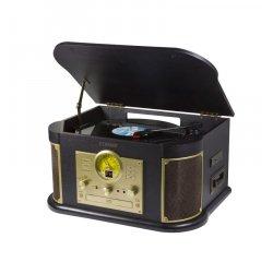 Technaxx Bluetooth přehrávač CD/gramofon/kazeta, konvertor - převod do MP3 formátu (TX-103)