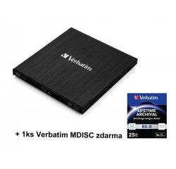 Blu-ray Externí mechanika, USB 3.0, černá, Verbatim