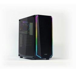 case Zalman miditower K1, ATX MID, Tempered glass & Spectrum LED, bez zdroje, USB3.0, černá