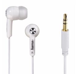 Hama slúchadlá Basic4Music, silikónové štuple, biele