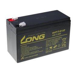 Long olovený akumulátor F2 pre UPS, EZS, EPS, 12V, 7,2Ah, PBLO-12V007,2-F2A, WP7,2-12 F2