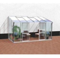 skleník VITAVIA IDA 7800 matné sklo 4 mm + PC 6 mm strieborný + internetová televízia SledovanieTV na dva mesiace v hodnote 11,98 €