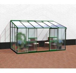 skleník VITAVIA IDA 7800 matné sklo 4 mm + PC 6 mm zelený + internetová televízia SledovanieTV na dva mesiace v hodnote 11,98 €